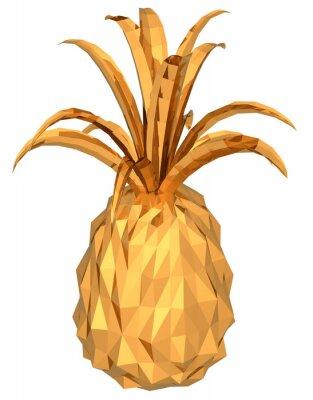 Nálepka zlatý ananas