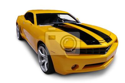 Nálepka Žlutá American Sports Car