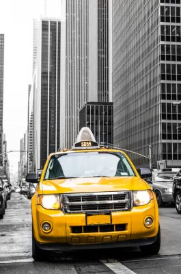 Nálepka žlutý taxík v New Yorku
