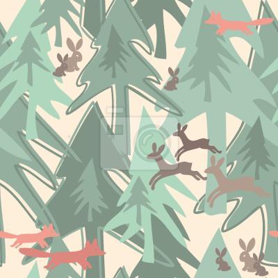 Nálepka Změna sezony v lese