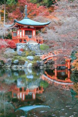 Nálepka Změna volno barva červená Temple Japonsku.
