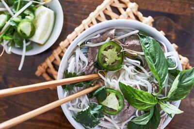 Nálepka Zpětný fotografie jíst vietnamština hovězí Pho