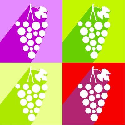Nálepka zrnko vína