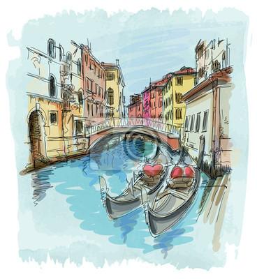 2 gondoly. Benátky