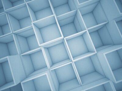 Obraz 3d abstraktní krychle pozadí