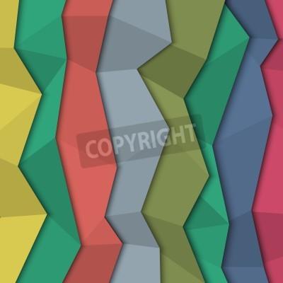 Obraz 3d barevné papírové pozadí - origami styl.