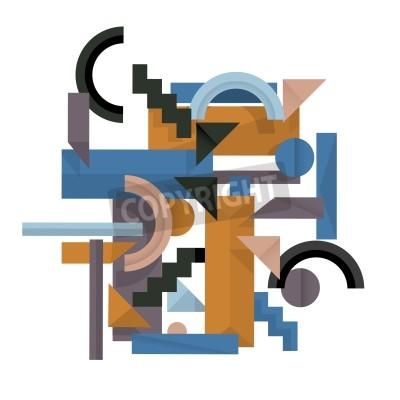 Obraz 3d geometrické pozadí v kubistickém stylu