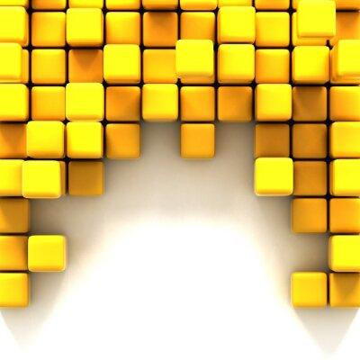 Obraz 3d ilustrace žlutých kostek