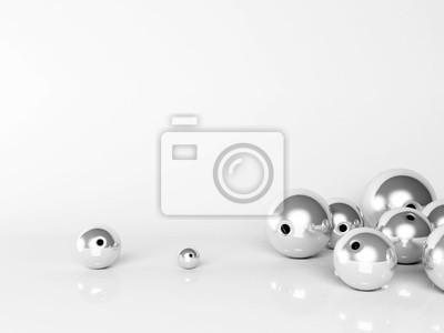 3D kovové koule