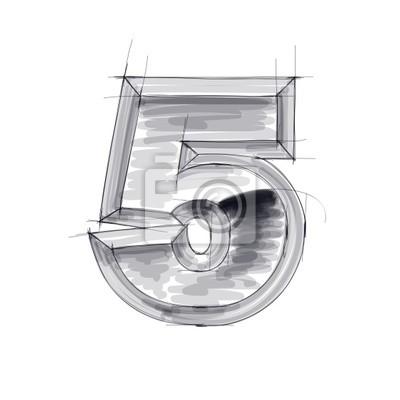 3d kovů postava skica -. 5 Eps10