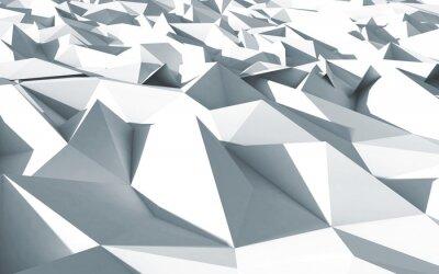 Obraz 3D polygony Beau Cristaux fond textury blanc