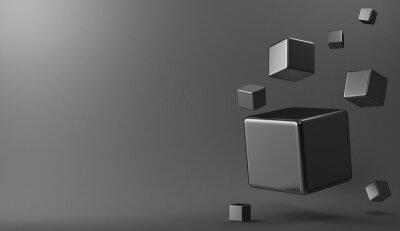 Obraz 3d pozadí kovové kostky