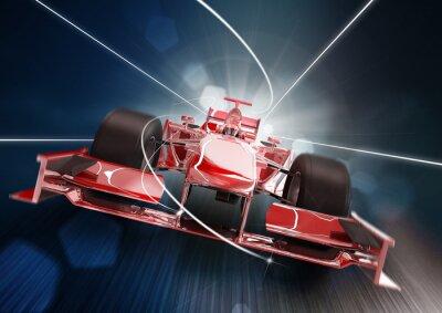 Obraz 3d render, formule jedna Concept Car