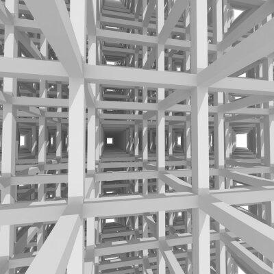 Obraz 3d sloupy a trámy, architekturu pozadí.