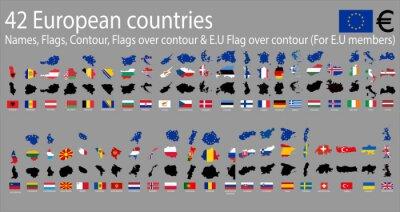 Obraz 42 evropských zemí