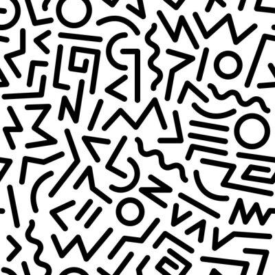 Obraz 80s pattern