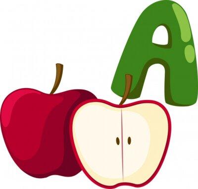Obraz abeceda pro jablko
