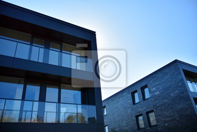 Obraz Abstract fragment of contemporary architecture. Residential modern building