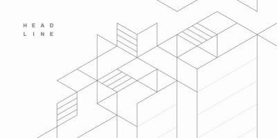 Obraz Abstract geometric technological background. Vector creative design.