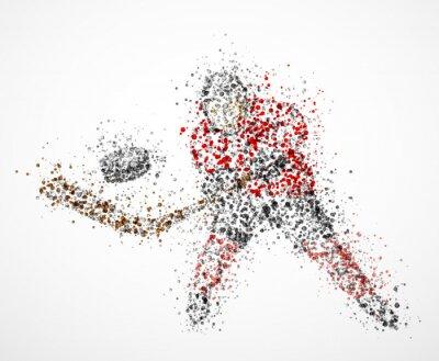 Obraz Abstract hokejista