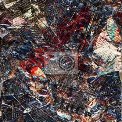 Abstract noviny špinavé poškození pozadí