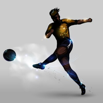 Obraz Abstract soccer power shooting