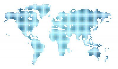 Obraz Abstract vector illustration of a dotted worldmap
