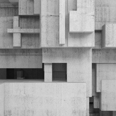Obraz Abstrakt betonové konstrukce, náměstí pozadí