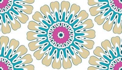 Obraz Abstrakt bezešvé geometrický květinový vzor teček na bílém pozadí. Vektor