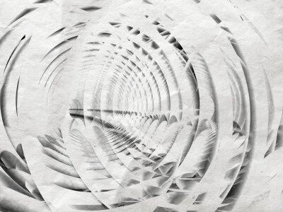 Obraz Abstrakt bílá spirála ilustrace pozadí