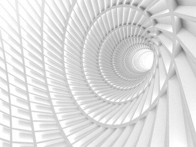 Obraz Abstrakt Bílý tunel díra pozadí