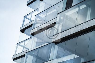 Obraz Abstrakt Fragment moderní architektury, modré tón