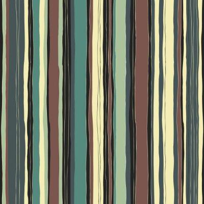 Obraz Abstrakt retro barvy pruhy vzor. Bezešvé ručně kreslených linky