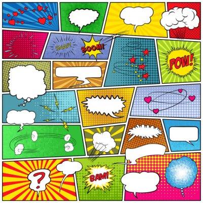 Obraz Abstrakt sada komiksové předlohy