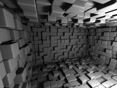 Obraz Abstrakt Tmavé kostky Wall Room pozadí
