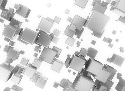 Obraz Abstraktní 3d digitální cubesisolated na bílém pozadí