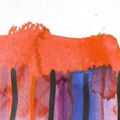 Obraz abstraktní akvarel pozadí design