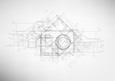 Obraz Abstraktní architektonické výkresy.