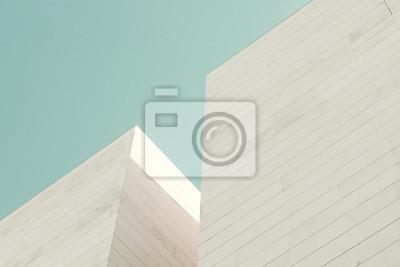 Obraz Abstraktní architektury. Detail fasády budovy z kamenných kvádrů