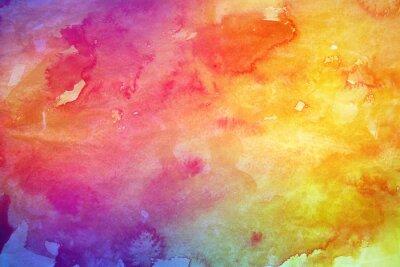 Obraz Abstraktní barevný akvarel pozadí pro grafický design