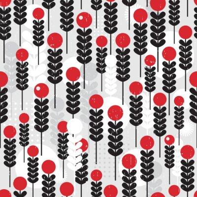 Obraz Abstraktní bezproblémové vzorek s bobulemi.