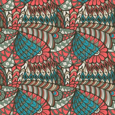 Obraz Abstraktní bezproblémové vzorek ve stylu doodle. Vektorové ilustrace
