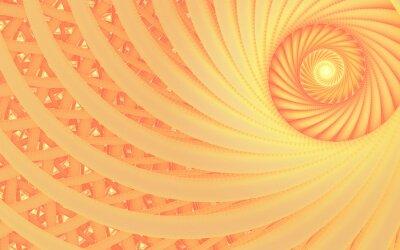 Obraz Abstraktní fantasy víření tunelu se zadávací broskví liniemi