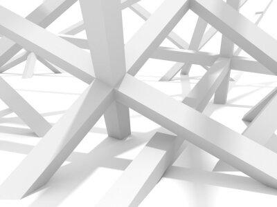 Obraz Abstraktní futuristické architektury Element pozadí návrhu
