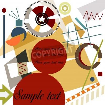 Obraz Abstraktní geometrické pozadí; Mistr Kandinsky styl