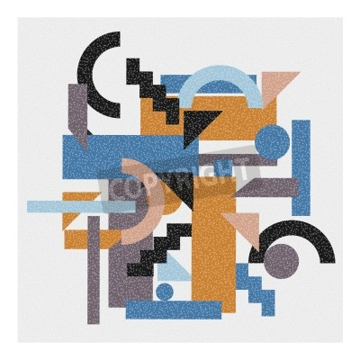 Obraz Abstraktní geometrické pozadí v kubistickém stylu.