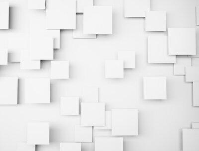 Obraz Abstraktní geometrický tvar 3d bílé kostky
