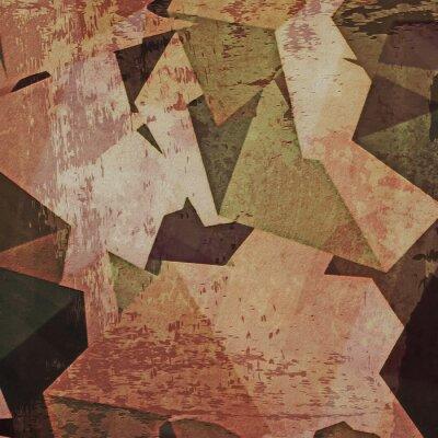 Obraz Abstraktní grunge zeď na pozadí, kubismus