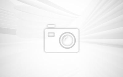 Obraz Abstraktní hladký bílý interiér budoucnosti. Architektonické pozadí. 3D ilustrace a vykreslování