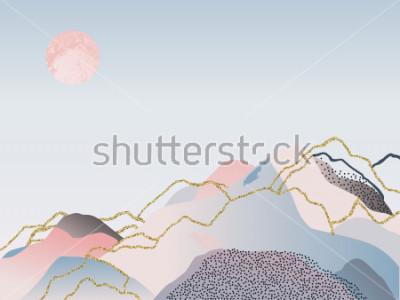 Obraz Abstraktní minimální pozadí. Skandinávský design. Vektorové ilustrace
